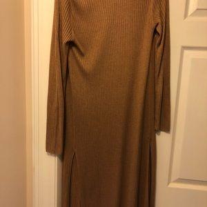 Long ribbed cardigan